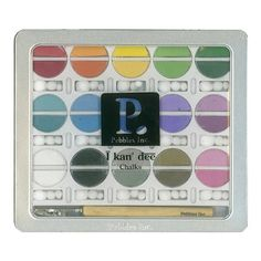 ❤ Pebbles Chalk Set, Basic Brights: Excellent for coloring the backgrounds of Make-a-Masterpiece Adult Grayscale Coloring Books.