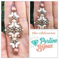 DIY TUTORIAL Earrings Orecchini Anastasia in collaborazione con Perlineb...