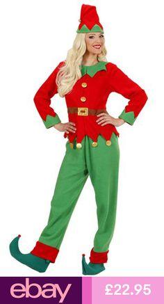 276a1c4cc1 Ladies Santa s Little Helper Christmas Xmas Elf Women s Fancy Dress Costume