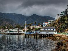This is the harbor of the seaport village of Avalon in Catalina Island, CA.