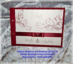 Gästebuch,Hochzeit,Schraubalbum,Elegant,Innentext,Geschenk,