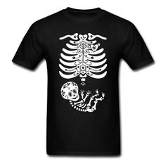 Sugar Skull Maternity Skeleton Skelly Baby T-Shirts