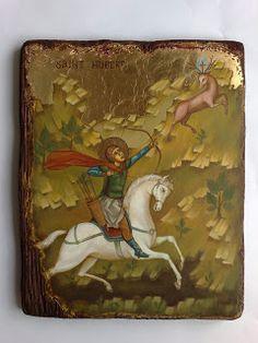 IKONY: Święty Hubert (Saint Hubertus)