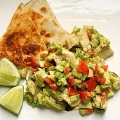 Guacamole Chicken Salad from The Bitten Word, found @Edamam!