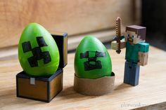 Minecraft Easter Eggs: Make a Creeper with simple paint or Sharpies by Plain Vanilla Mom