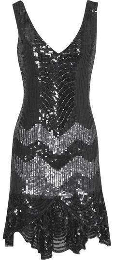 If I could find or make something like this... I woudl totally wear it out!!     Oasis Partywear| Black Sequin Flapper Dress