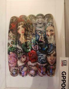 80s Nails, Nailart, Art Projects, Mixed Media, Nail Designs, Enchanted, Mini, Painting, French