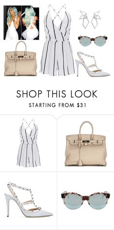 """j467"" by juliette-grimm ❤ liked on Polyvore featuring WithChic, Hermès, Valentino, Cutler and Gross and W. Britt"