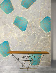 Light Module Sky LED Wallpaper by Meystyle. Conductivity Collection. Meystyle specialise in wall coverings with the added feature of integrated LED lights.