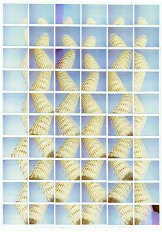Maurizio Galimberti Pisa Torre Kalimba Dance, Pisa, 2012 Giart www.it/andataericordo Post It, Polaroid Collage, Kalimba, Built Environment, Travel And Tourism, Amazing Photography, Grid, Graffiti, Colour