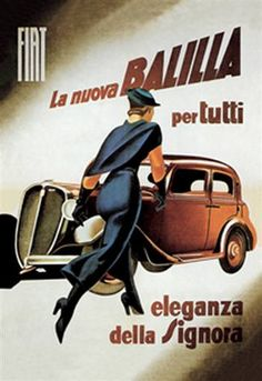 Fiat Balilla - The Antique Automobiles of Pre-World War II. Vintage Car Art and Automobile Canvas Poster Vintage, Vintage Artwork, Vintage Ads, Vintage Prints, Retro Ads, Chevy, Marketing Poster, Italian Posters, Digital Ink