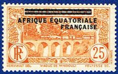 French Equatorial Africa 18 Stamp - Middle Congo Stamp - AF FEA 18-1 LH