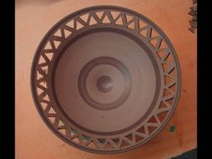 how to cut design into pottery