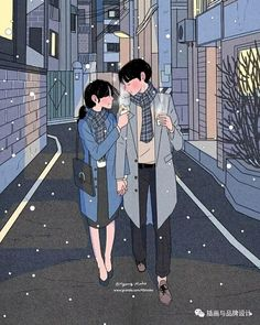 Heart-Warming Illustrations Depict The Romantic Moments Of A Happy Couple Art And Illustration, Illustration Mignonne, Korean Illustration, Animal Illustrations, Illustrations Posters, Cute Couple Drawings, Cute Couple Art, Anime Love Couple, Cute Drawings
