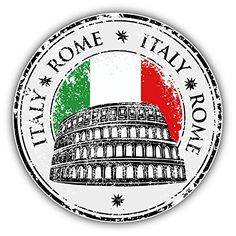 Grunge rubber stamp with Colosseum and the word Rome, Italy inside, vector illustration - stock vector Airmail Envelopes, Travel Stamp, City Icon, Passport Stamps, Car Bumper Stickers, Thinking Day, Instagram Highlight Icons, Tampons, Travel Scrapbook