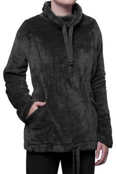 Ladies SockShop Heat Holders Snugover Fleece Jumper In Black  £25.99
