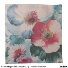 Pink Vintage Floral Cloth Napkins (set of 4) $36.90 per set of 4
