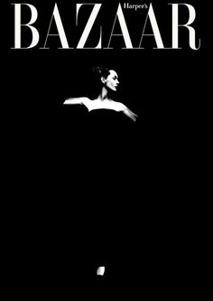 theniftyfifties:      Dovima photographed by Richard Avedon for the cover of Harper's Bazaar.