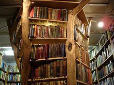 Very cool bookshelves.
