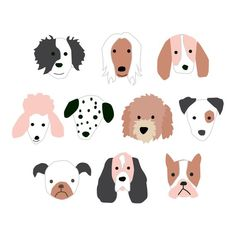 Halloween Puppy Dog Faces wall art for Halloween decor - Products - Puppy Faces wall art for children& rooms or birthday party decor – white background - Puppy Birthday Parties, Puppy Party, Baby Puppies, Dogs And Puppies, Puppy Backgrounds, Halloween Puppy, Face Illustration, Puppy Face, Little Doll
