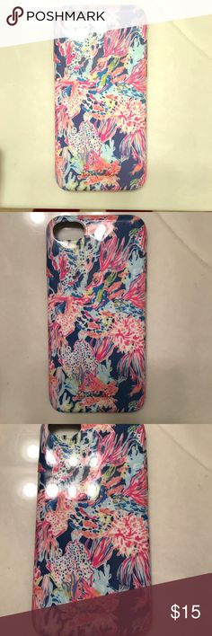 Lilly Pulitzer iPhone 7 phone case lightly used Super cute lilly Pulitzer iPhone 7 phone case hard but flexible makes any iPhone look ten times better! Lightly used Lilly Pulitzer Accessories Phone Cases