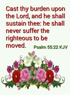 Psalm 55:22 KJV