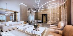 The penthouse at the Mansions At Acqualina, the immodestly named Palazzo D'Oro (translated to 'palace of gold'), hit the market yesterday for. Mansions, House Design, Room, Luxury Living Room, Room Design, Luxury Living Room Design, Penthouse Living, Luxury Living, Big Mansions