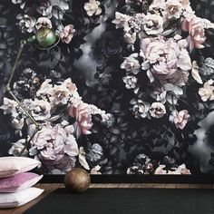 Ellie Cashman Design 'Still Life with Shadows Gray' wallpaper.