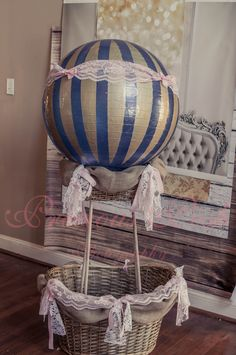 Hot air balloon Prop, DIY  https://www.facebook.com/PreciousPoshPhotography?ref=ts=ts