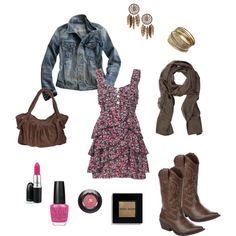 Country Cutie, created by caitlin2012....I TOTALLY MADE THIS OUTFIT MYSELF!!!!! =) Go Polyvore!