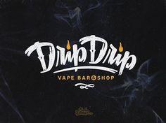 Logo for vape bar Author:Vova Egoshin  / Логотип для Уфимского бара Drip Drip, где ты покуришь электронный кальян!