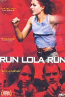 RUN LOLA RUN.  Director: Tom Tykwer.  Year: 1999.  Cast: Franka Potente, Moritz Bleibtreu and Herbert Knaup