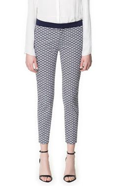 Geometric Print Trousers