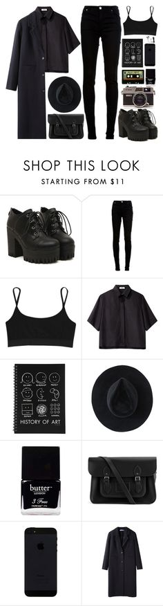 """""""Grunge"""" by mirelletelle ❤ liked on Polyvore featuring dVb Victoria Beckham, T By Alexander Wang, Nomia, INDIE HAIR, Ryan Roche, Butter London, The Cambridge Satchel Company and Jacquemus"""