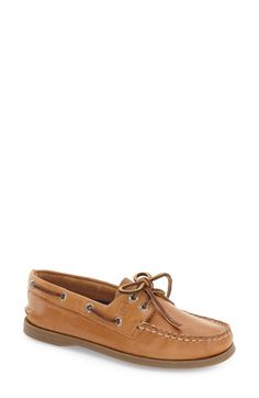 Free shipping and returns on Sperry 'Authentic Original' Boat Shoe (Women) at Nordstrom.com. A hand-sewn boat shoe with a moc-stitched toe features a shock-absorbing EVA heel cup for comfort and a nonmarking, siped rubber sole for excellent wet and dry traction.