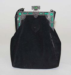 Evening purse  Jay-Thorpe, Inc.   Date: 1927–28 Culture: French Medium: leather, metal. @Deidré Wallace