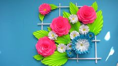 Origami Easy Paper Flower l Very Easy To Make l Paper Craft Ideas l 2018 Here are some of the most beautiful DIY projects you can try for your self at home DIY How to Make Beautiful Flower Bouquet With Colour Paper!!! / Home Decoration!!!
