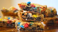 [Homemade] Loaded M&M Oreo Cookie Bars