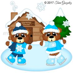 Ice Skating Bears