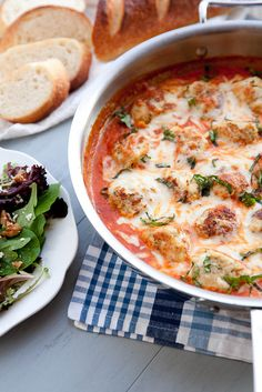 Baked Chicken Parmesan Meatballs with Tomato Cream Sauce | Annie's Eats by annieseats, via Flickr