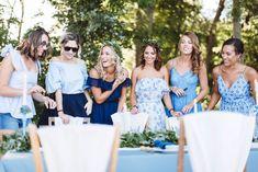 Bridal shower, Mariée, Wedding, Mariage, Suisse, France, Lausanne, Genève, Nyon, Love, Blue, Dress, smile