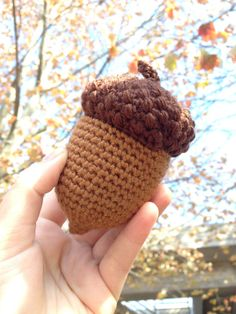 THIS LISTING IS FOR A PDF CROCHET PATTERN, NOT THE FINISHED PRODUCT!  This jumbo acorn is the perfect size for childrens hands and makes a great decoration for autumn, especially an Oktoberfest party or Thanksgiving table. *The acorn pictured was made using worsted weight yarn and a 4.0mm crochet hook. *The final product is around 4 inches in length depending on your yarn and hook size. *The pattern includes instructions for the small bobble stitch used in the acorns cap to create a fun…
