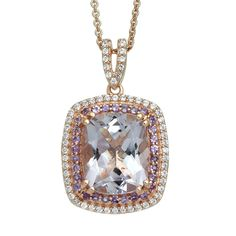 """18/"""" Rolo Chain Jewelili 14kt Yellow Gold Plated Sterling Silver 1//4cttw Round Diamond Three Stone Bypass Pendant Necklace"""