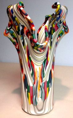 Monumental Reaction Impressive Fused Glass Drape by CGDbyMeryl.