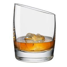 A beautiful glass for traditional whiskey, either straight or on the rocks  - Unique blown glass - Thin, elegant rim - Shaped to enable drinking from all sides - Two year warranty  Note: this is one glass only.