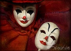 """""""Face Off"""" 13""""x19"""" - Venetian Carnival Photography, Extra Large FineArt Print"""
