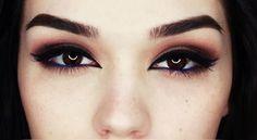 Bronze eyes with Arabic liner makeup - Makeup Tutorial