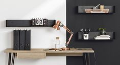 Wall shelves made of metal - white, grey, black ✔ minimalist design ✔ u shaped floating shelf ✔ Discover our range of cool looking metal shelves right here! Metal Shelves, Wall Shelves, Floating Shelves, Shelving, Minimalist Interior, Minimalist Design, A Shelf, Cool Walls, Metal Walls