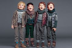 dolce and gabbana winter 2015 child collection 66 Little Boy Outfits, Toddler Outfits, Baby Boy Outfits, Little Boys, Fall Outfits, Kids Outfits, Girls Fashion Clothes, Toddler Fashion, Fashion Kids
