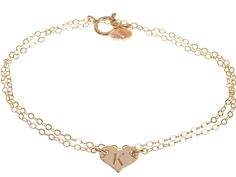 Custom Sterling Silver Dainty Heart Initial Bracelet - Small Delicate Monogrammed Heart -- Read more at the image link. (This is an affiliate link and I receive a commission for the sales)